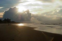 Zonsopgang, Smaragdgroen Eiland, Noord-Carolina stock afbeelding