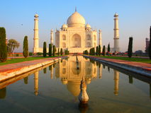 Zonsopgang in Taj Mahal Royalty-vrije Stock Foto