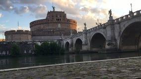 Zonsopgang timelapse over Castel Sant ` Angelo stock video