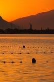 Zonsopgang in Trogir, Kroatië Royalty-vrije Stock Afbeelding