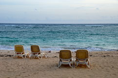 Zonsopgang, Tropisch Strand, Dominicaanse Republiek Stock Fotografie