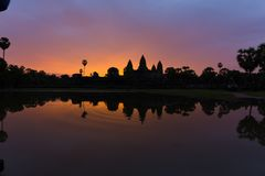 Zonsopgang van Angkor Wat Royalty-vrije Stock Foto's