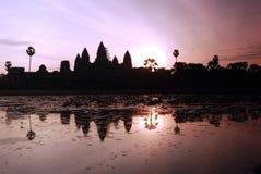 Zonsopgang van Angkor Wat Stock Foto