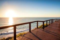 Zonsopgang van het Vooruitzicht van het Noordenburleigh, Gouden Kust Australië Stock Foto