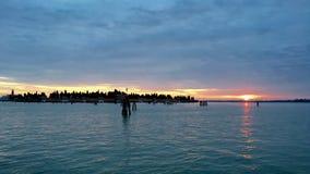 Zonsopgang in Venetië Stock Foto