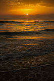Zonsopgang, zon, overzees Royalty-vrije Stock Foto