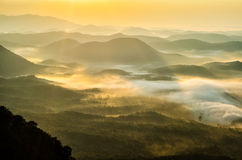 Zonsopgang, Zuid-Carolina, Appalachian Bergen Royalty-vrije Stock Foto's