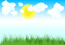 Zonsopgangachtergrond vector illustratie