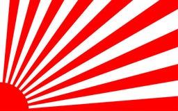 Zonsopgangachtergrond met de stijl van Japan Royalty-vrije Stock Foto's