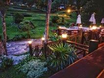 zonsopgangmening van mijn ruimte in het dorp van het land Royalty-vrije Stock Afbeeldingen