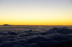 Zonsopgangscène van Haleakala-vulkaan, Maui, Hawaï Royalty-vrije Stock Afbeelding