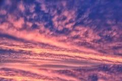 Zonsopgangwolken Stock Foto