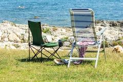Zonstrand in Adriatic Stock Foto