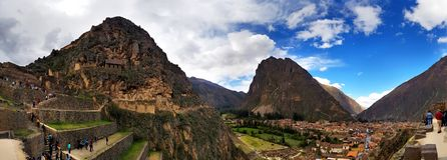Zontempel, Ollantaytambo, Peru stock afbeeldingen