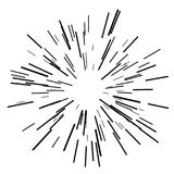 Zonuitbarsting, de zonneschijn van de steruitbarsting vector illustratie