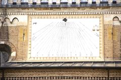 Zonwijzerplaat in Padua royalty-vrije stock afbeelding