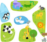 Zoo. Illustration of cute zoo have many animal vector illustration