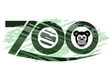 Zoo. Emblem to indicate a zoological garden Stock Photos