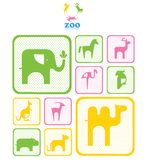 Zoo logo. logos and icons with animals. Stock Image
