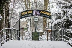 Zoo al parco Maksimir Zagabria, inverno della città Fotografia Stock