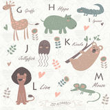 Zoo alphabet Royalty Free Stock Photography