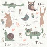 Zoo alphabet stock illustration