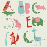 Zoo alphabet Royalty Free Stock Images