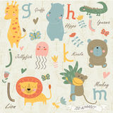Zoo alphabet Royalty Free Stock Photography