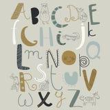 Zoo alphabet Stock Photography