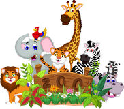 Zoo and the animal cartoon. Illustration of zoo and the animal cartoon Royalty Free Stock Photos