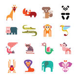 Zoo Animal Icons Royalty Free Stock Photo