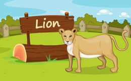 Zoo animal. Illustration of animal enclosure at the zoo Stock Photography