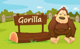 Zoo animal. Illustration of animal enclosure at the zoo Royalty Free Stock Images
