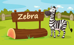 Zoo animal. Illustration of animal enclosure at the zoo Stock Image