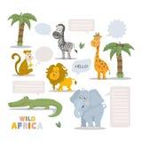Zoo animal set Royalty Free Stock Image