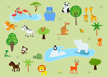 A zoo and the animals in a beautiful nature Royalty Free Stock Images