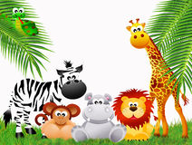 Zoo animals cartoon Stock Images