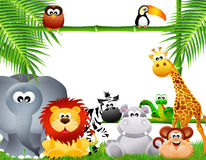 Zoo animals cartoon Stock Photos