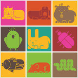 Zoo animals icons Royalty Free Stock Photography
