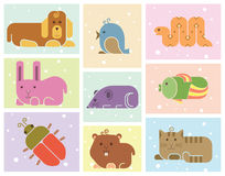 Zoo animals icons Stock Image