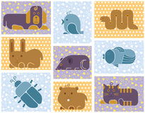 Zoo animals icons Royalty Free Stock Photos