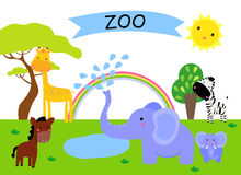 A zoo and the animals Stock Images