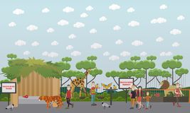Free Zoo Animals Vector Flat Illustration Stock Photos - 106945103