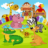 Zoo animals. Vector illustration, eps stock illustration