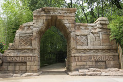 Zoo Attraction. A attraction at a Zoo. This is the Land of the Jaguar area at Alexandria Zoological Park Stock Photo