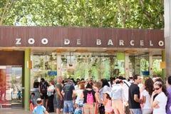 Zoo av Barcelona, Spanien Arkivbild