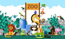 Zoo Background Illustration Royalty Free Stock Photography