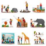 Zoo-Besucher eingestellt Stockfotos