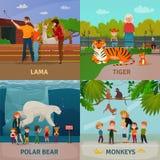 Zoo-Besucher-Konzept Stockfotografie