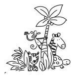 Zoo cartoon animals Royalty Free Stock Images